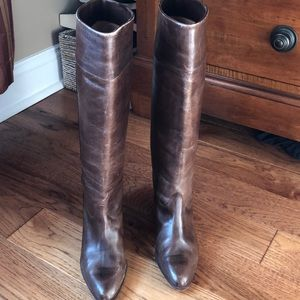 Andrew Geller Italian Leather Boots. Size 8. Cute!